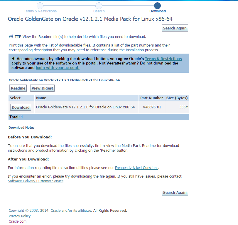 Installing Oracle GoldenGate 12 1 2 for Oracle on Linux – ORACLE-SCN