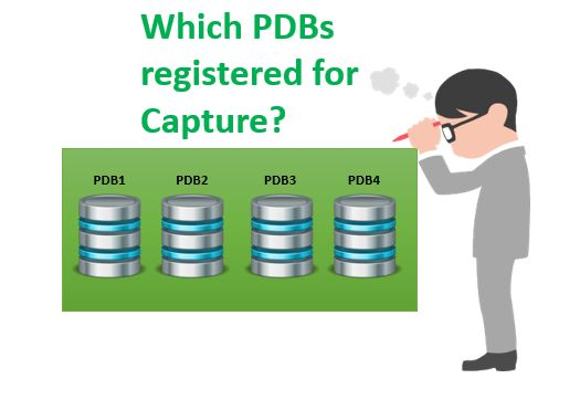 Which PDBs are registered with Integrated Extract?