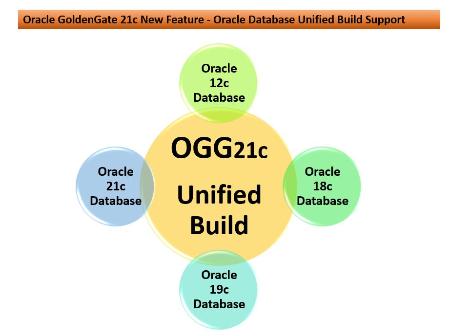 Oracle GoldenGate 21c New Feature – Oracle Database Unified Build Support